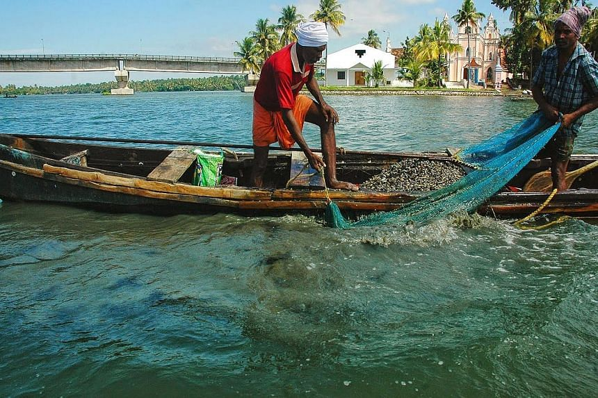 The Ashtamudi fishery in India's Kerala state is among those certified as sustainable.