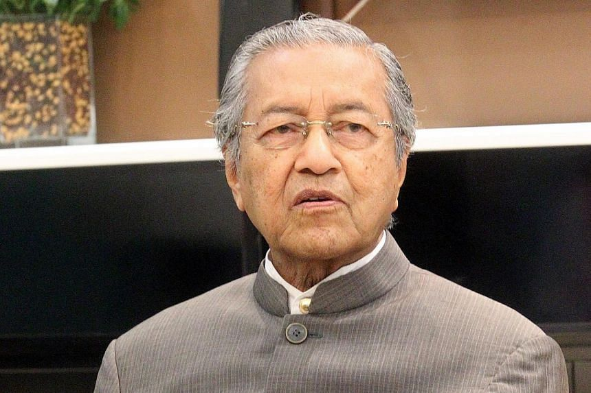 """Dr Mahathir Mohamad said his call for Mr Najib Razak to step down """"is known to everyone""""."""