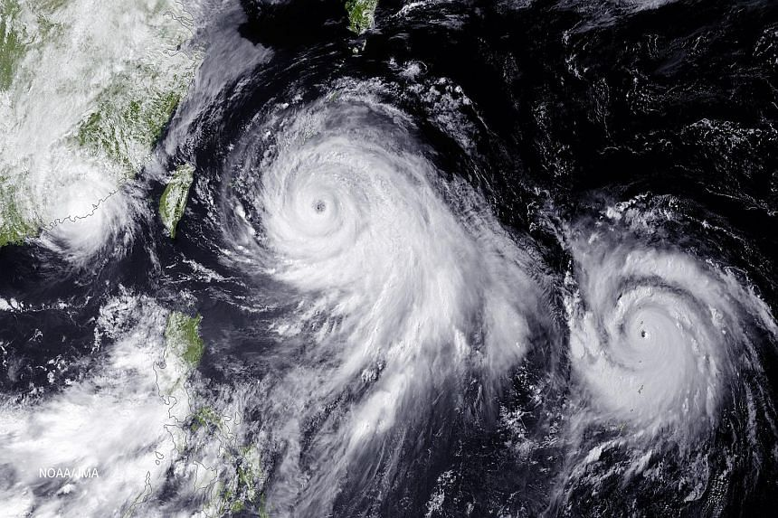The world is seeing more extreme weather - from (clockwise from above) a heatwave in Japan to cyclones in parts of Asia and drought in the US.