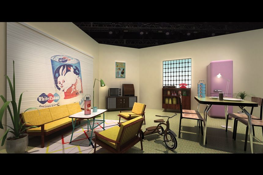 An artist's impression of what the 1960s style apartment might look like.