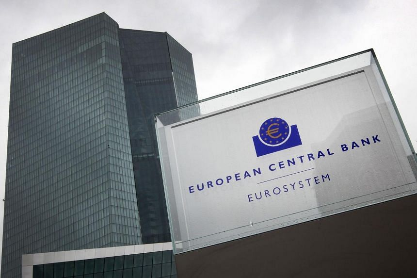 The headquarters of the European Central Bank in Frankfurt, Germany.