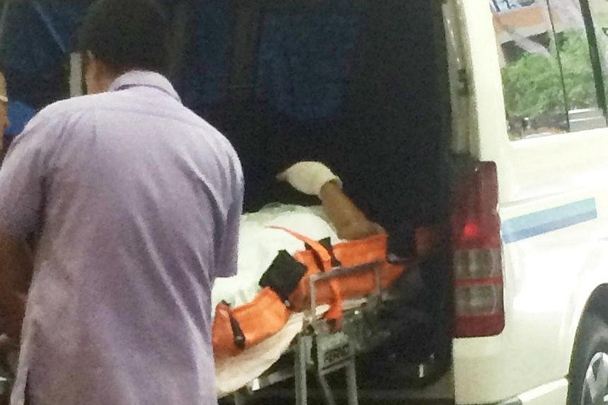 The victim was taken to Changi General Hospital.
