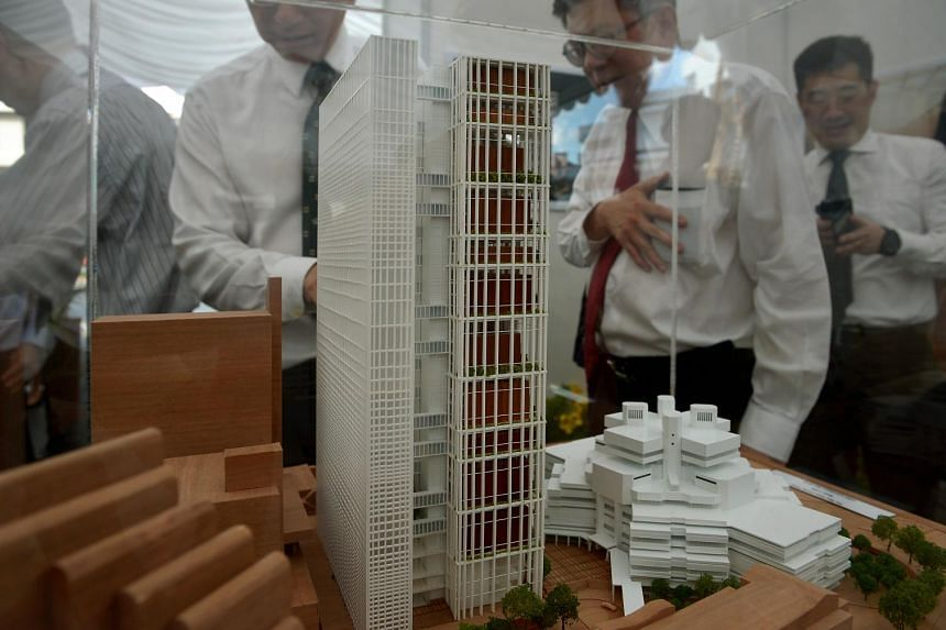 A model of the new State Courts complex.