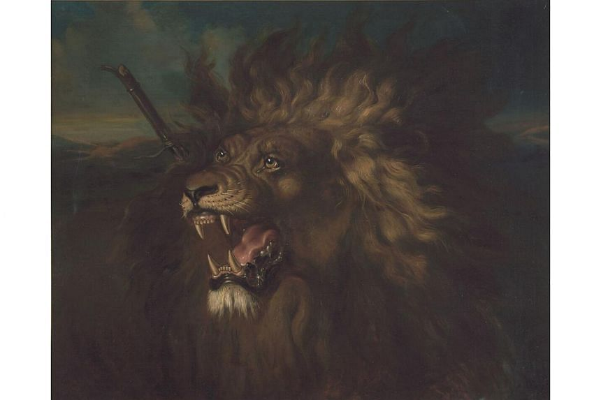 Wounded Lion by Raden Saleh