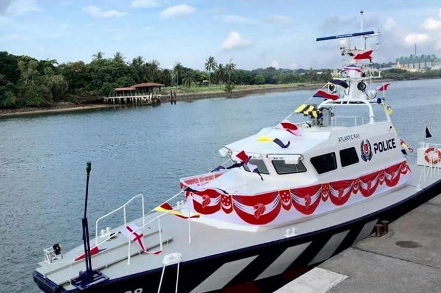 The newly launched patrol interdiction boat.