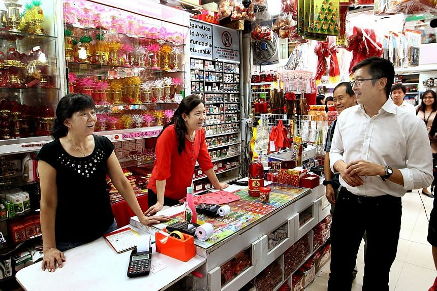 Minister of State for Trade and Industry, Mr Teo Ser Luck,  visiting retailers as part of regular engagement and outreach with SMEs and enterprises.