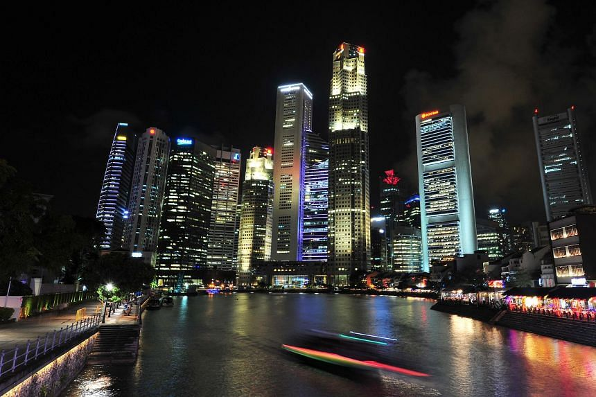 The Singapore River against the Central Business District in the backdrop.