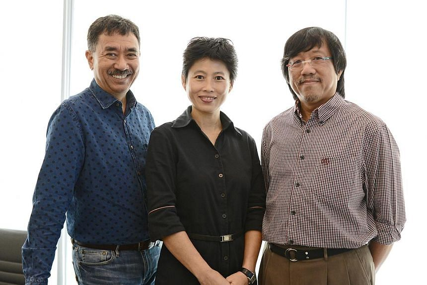 Co-founders (from left) Paul Jansen, Sally Loh and Christopher Yeo of data analytics start-up aSpecial Media, which will link up with GNum to launch a service called GNum Analytics.