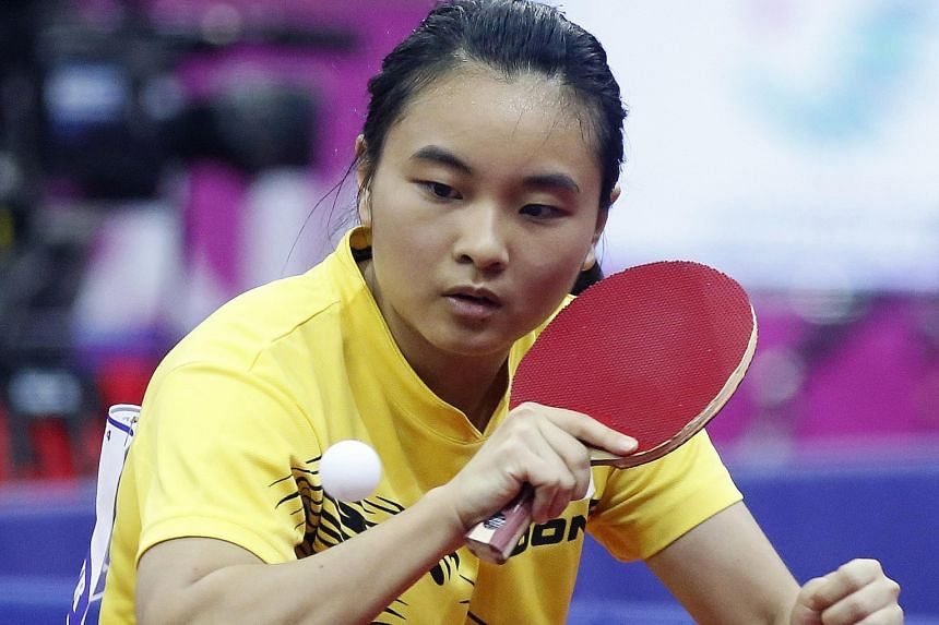 National player Isabelle Li at the Asian Games in Incheon, South Korea, last year. She will study liberal arts at Yale-NUS, her sole choice for university.