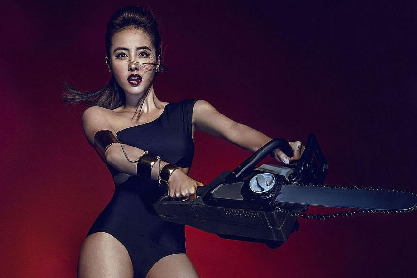 "Sexy concert outfits are a ""must"" for Jolin Tsai (above)."