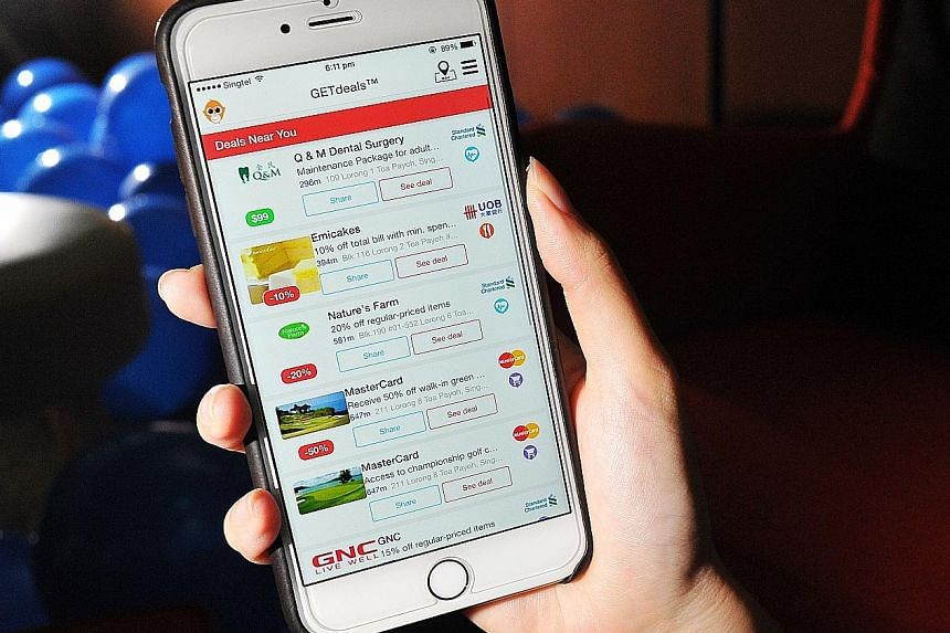 The GETdeals app lists offers in areas such as food and beverage and shopping.