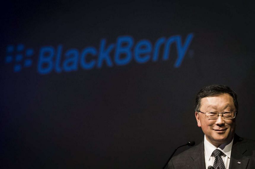 A file picture of Blackberry CEO John Chen speaking during their annual general meeting for shareholders in Toronto, Canada last month. PHOTO: REUTERS
