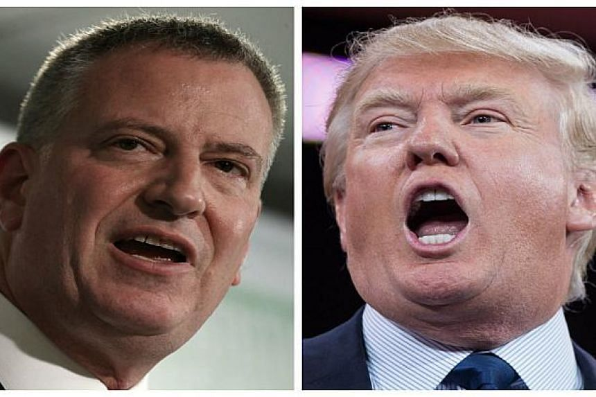 De Blasio (left) said Trump (right) did not represent the views of New Yorkers.