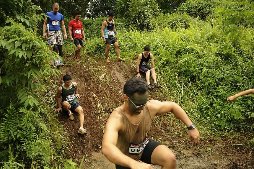 Participants during the 2014 Commando Challenge. This year's challenge has spawned four perilous new obstacles for participants to navigate.