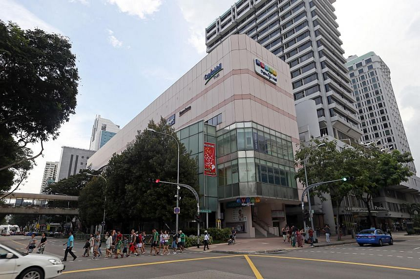 CapitaLand Mall Trust's gross revenue for the second quarter fell 2.9 per cent to $159.6 million.