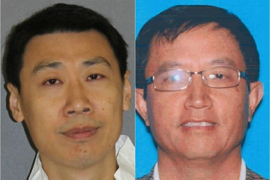 Sun (left) waited at a car park in his Mercedes-Benz SUV, then knocked Liu down when he turned up.