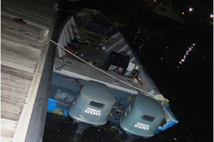 The boat was intercepted and seized by the Police Coast Guard.