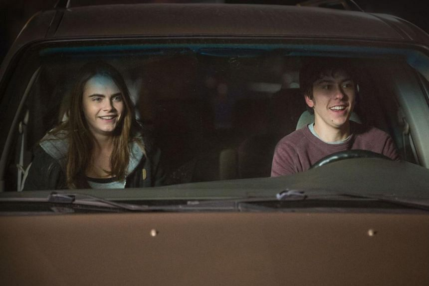 Emma Stone and Joaquin Phoenix in Irrational Man; and Cara Delevingne and Nat Wolff (above) in Paper Towns.