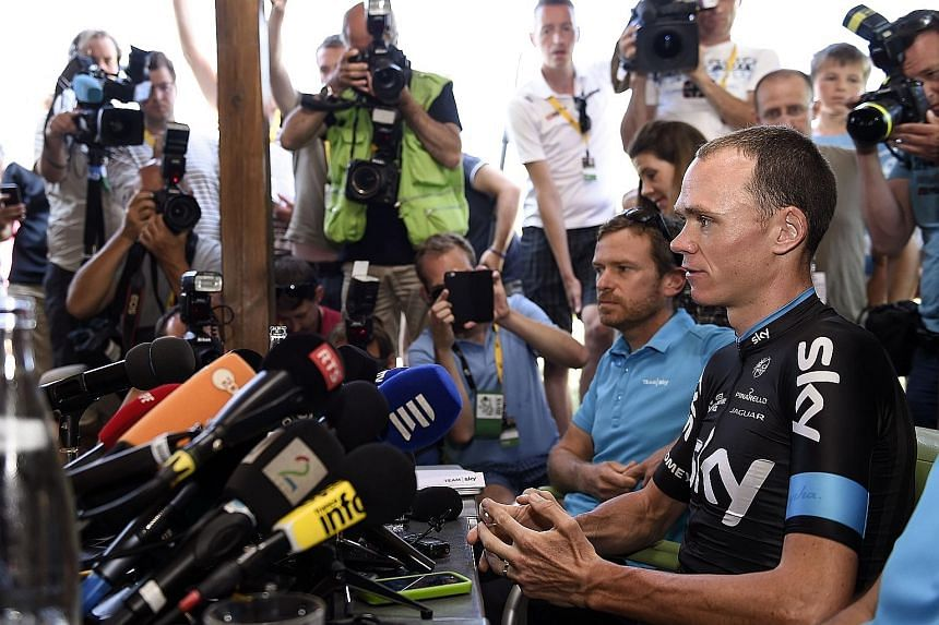 Chris Froome, speaking at a press conference during a rest day, has not been able to put to rest speculation from certain media about his possible drug-taking.