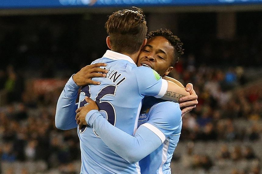 Record signing Raheem Sterling is quick to make a favourable impression with new club Manchester City after scoring against AS Roma in a tournament in Melbourne.
