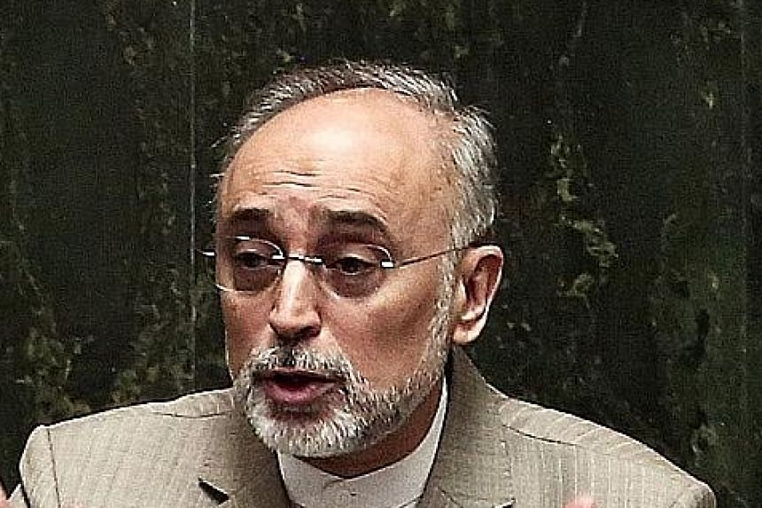 Mr Ali Akbar Salehi admits that Iran's nuclear ambitions have been a massive drain on its finances.
