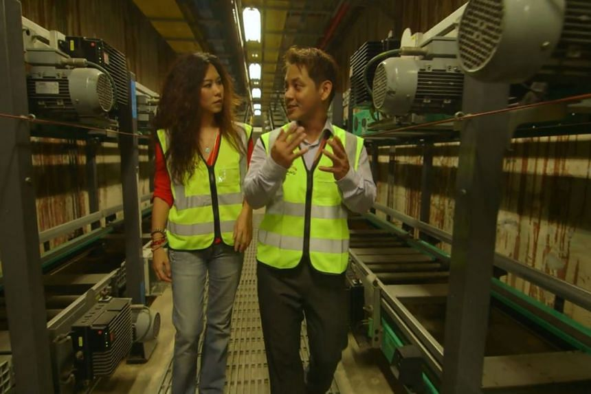 Singapore artiste Michelle Chia finds out what happens to your luggage after you check it in at Changi Airport.