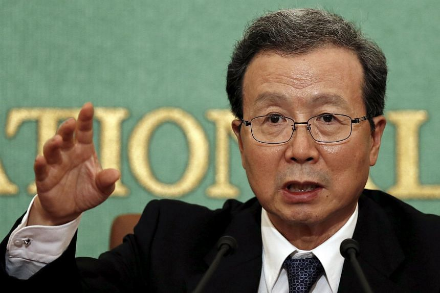 Chinese Ambassador to Japan Cheng Yonghua speaking at the Japan National Press Club in Tokyo on July 23, 2015.