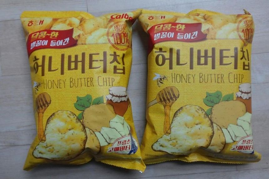 The first two packets of Honey Butter Chip that the writer got her hands on.