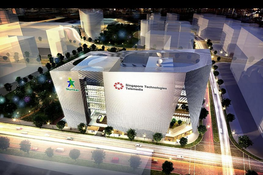 An artist's impression of MediaHub at one-north. It will be a highly specialised media, telecommunications and data centre facility.