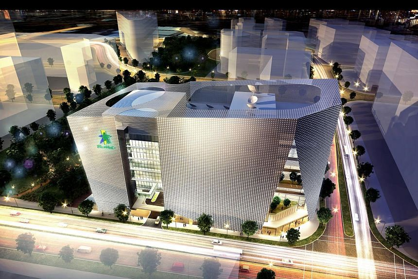 An artist's impression of MediaHub at one-north.