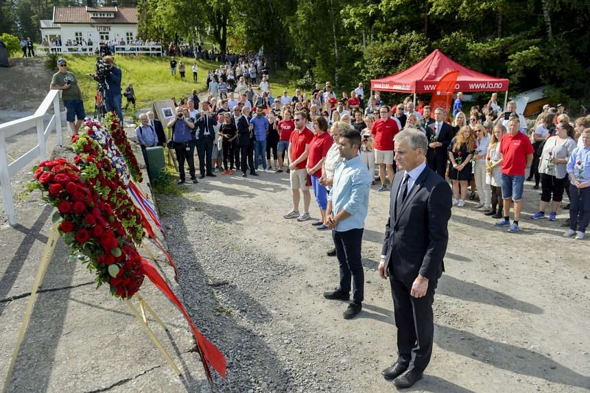 A ceremony to mark the fourth anniversary of the Utoya shooting, attended by relatives, officials and politicians.