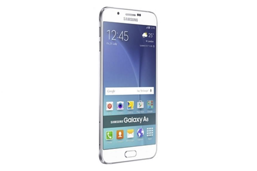 The dual SIM, metallic Galaxy A8 has a 5.7-inch Full HD Super Amoled screen, and is just 5.9mm thick.