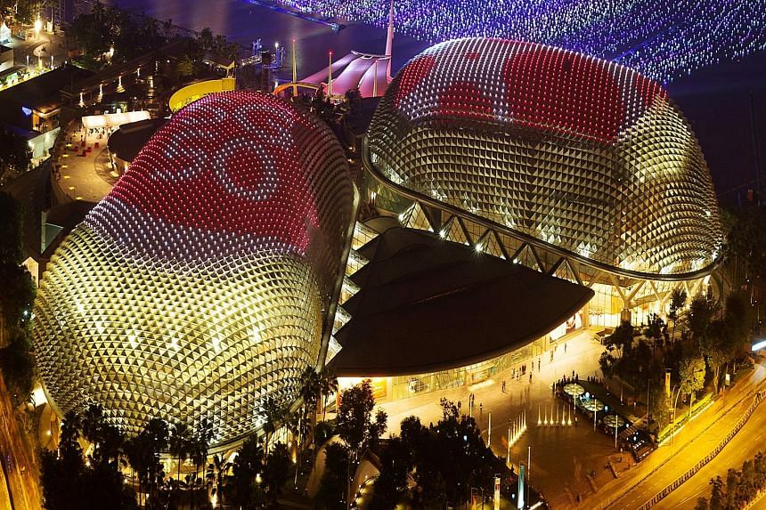 Head to the Marina Barrage for a mass picnic (left) on the roof and drop by Clifford Square for a food heritage exhibition, SG50: Deliciously Singaporean (above). Celebrate Singapore's jubilee in the city - at the Esplanade (left), which will host fr