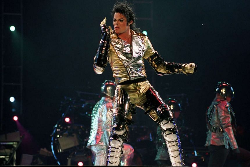 Late pop legend Michael Jackson performing in Singapore.