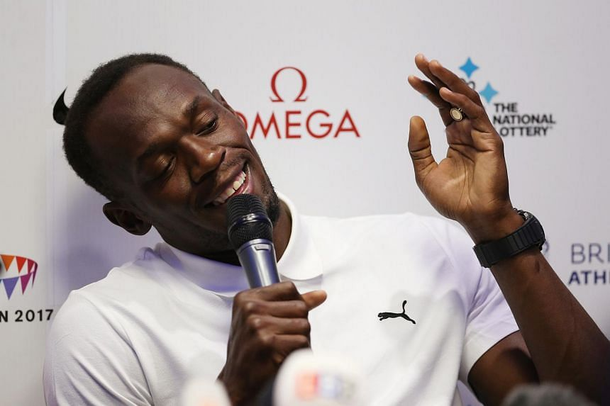 Jamaica's Usain Bolt during a press conference on July 23, 2015.