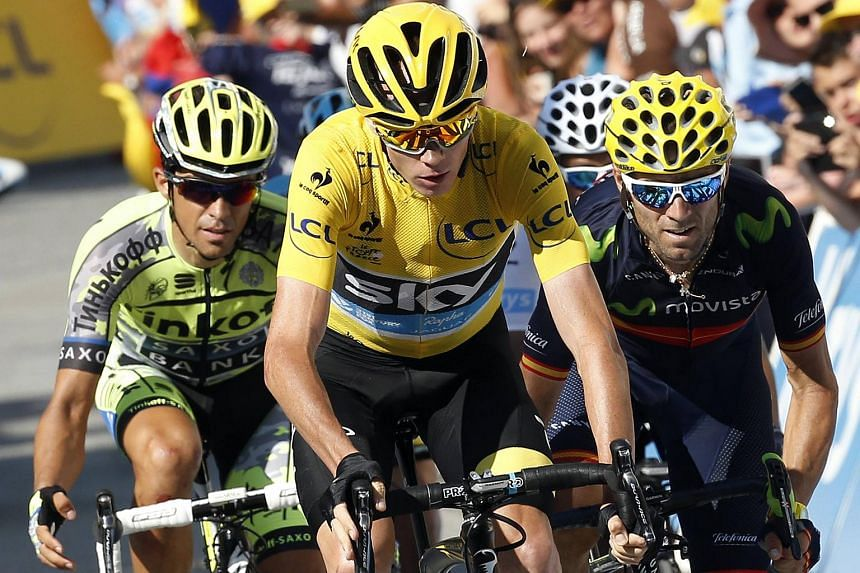 Team Sky rider Chris Froome (centre) fears that only public release of all his training and racing data will satisfy doubters.