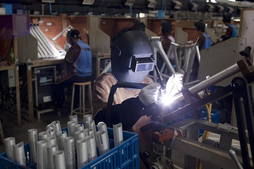 China's factory sector contracted by the most in 15 months in July, according to a preliminary survey.
