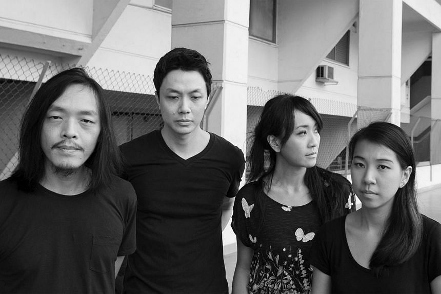 Local band The Observatory whose members are (from left) Leslie Low, Yuen Chee Wai, Vivian Wang and Cheryl Ong.