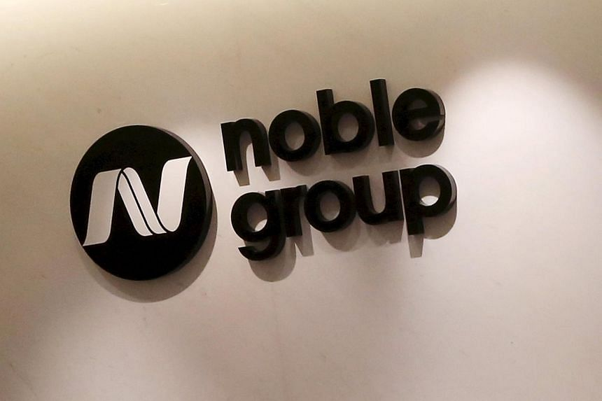The company logo of Noble Group is seen at its headquarters in Hong Kong, on March 23, 2015.