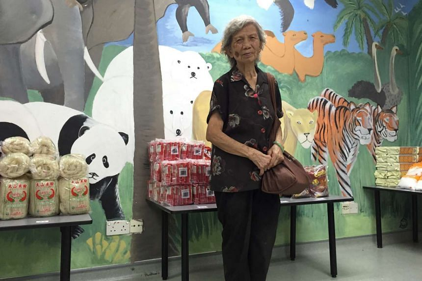 Madam Lim Yan Fong, 71, one of the beneficiaries of the project.