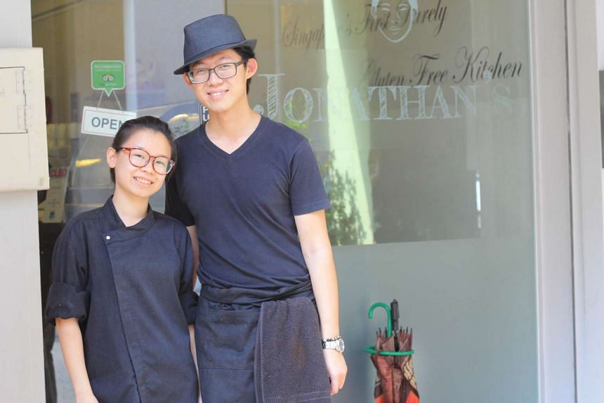 Ms Agnetta Lew and her husband, Mr Gabriel Lee, owners of Jonathan's, a gluten-free cafe, enjoy eating healthy meals.