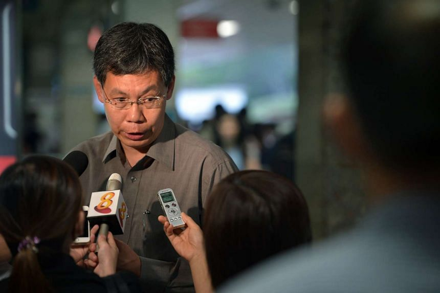 """Transport Minister Lui Tuck Yew said he was disappointed that his current constituency - Moulmein-Kallang GRC - had been """"divided up""""."""