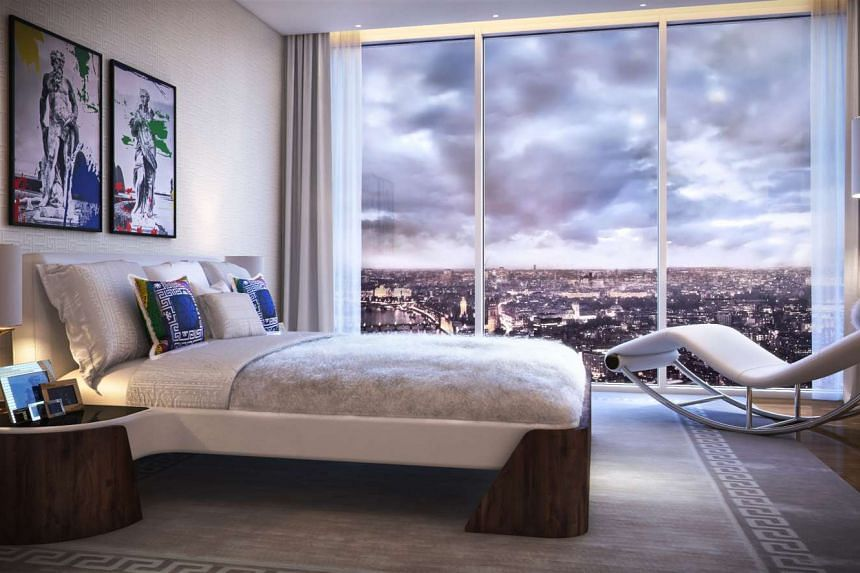 Floor to ceiling windows take advantage of the expansive London views.