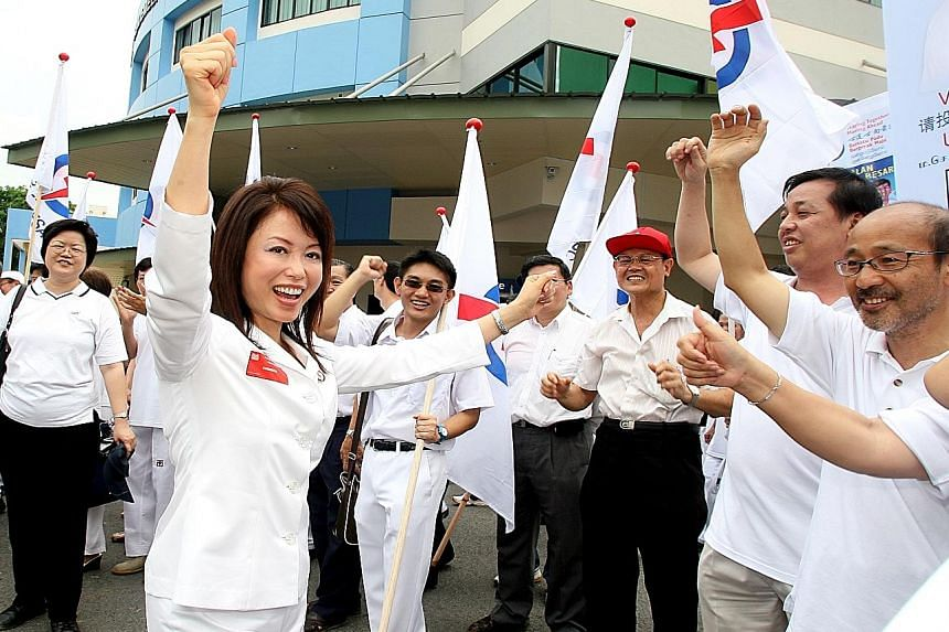 PAP Jalan Besar GRC member Lily Neo during the General Election 2006. Her Kreta Ayer-Kim Seng ward, which in 2011 joined Tanjong Pagar GRC, will once again become part of Jalan Besar GRC. PAP candidates for Moulmein- Kallang GRC Yaacob Ibrahim (secon