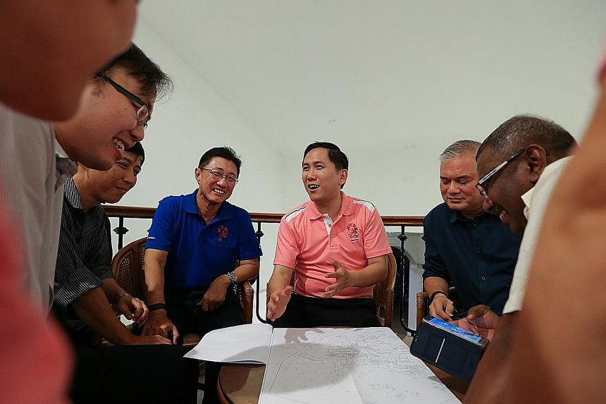 MP Alex Yam (in pink), with key volunteers in the Yew Tee division. The Chua Chu Kang GRC MP is among the MPs affected by the creation of Marsiling-Yew Tee GRC. Residents and observers are keenly watching to see who will be sent to the new GRC, since
