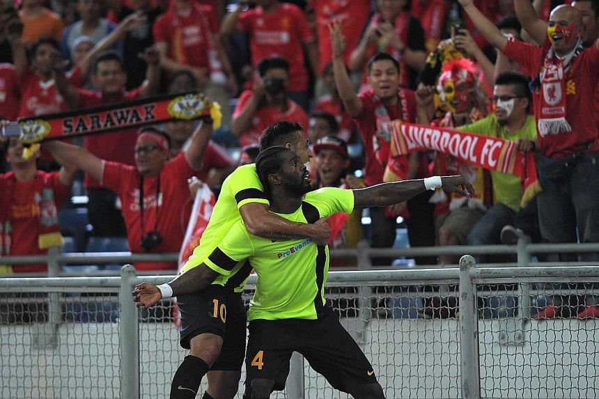 Malaysian second-tier side PKNS' Liberian player Patrick Wleh is the toast of the Malaysia XI fans after opening accounts in the 16th minute against Liverpool in Kuala Lumpur. Jordon Ibe equalised in the 28th minute and there were no further goals as