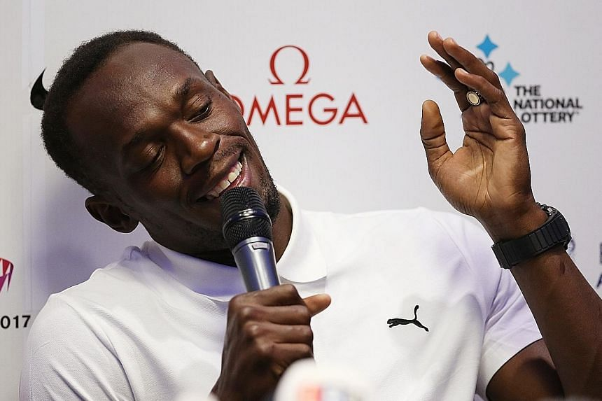 Jamaica's Usain Bolt says he is ready to face Justin Gatlin but the American sprinter will not be competing in London this weekend.