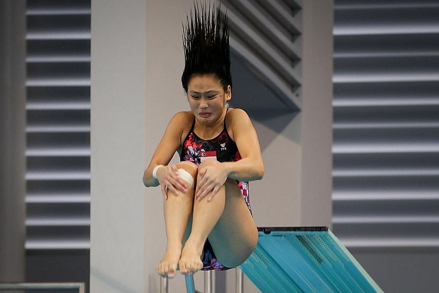 Fong Kay Yian on her way to a bronze in the 3m springboard at last month's SEA Games. Steady progress means Singapore divers are now No. 2 in the region.