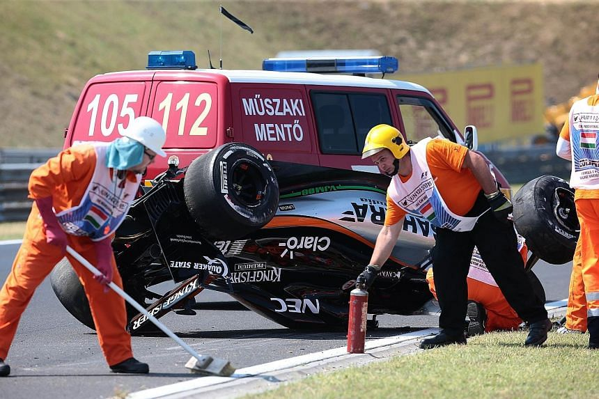 Even as F1 drivers continue to mourn the death of Jules Bianchi, another reminder of the dangers of the sport arose yesterday when Sergio Perez crashed during practice.