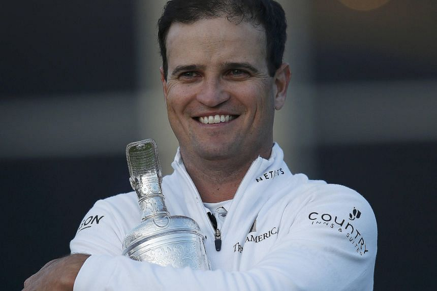 Zach Johnson always shares his prize money with a 10-person entourage headed by his wife.